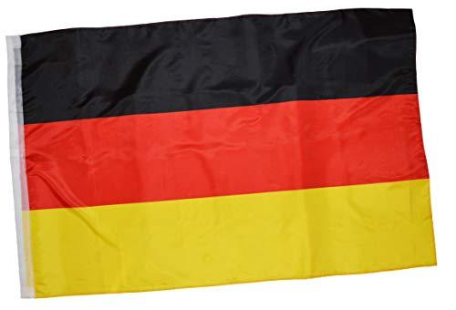 thb Richter Germany Deutschland Bundesflagge Schwenkfahne Stockflagge Schwenkflagge Stabfahne Hohlsaum-Links Fahne Flagge ca. 90cm X 150cm Reißfest Flag Fanartikel Fußball Fan
