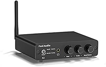 Fosi Audio K2 Bluetooth 5.0 Mini Stereo Gaming DAC Headphone Amplifier & Preamplifier 24-Bit/192 KHz USB/Optical/Coaxial to RCA AUX, Digital-to-Analog Audio Converter Adapter for Home Audio System