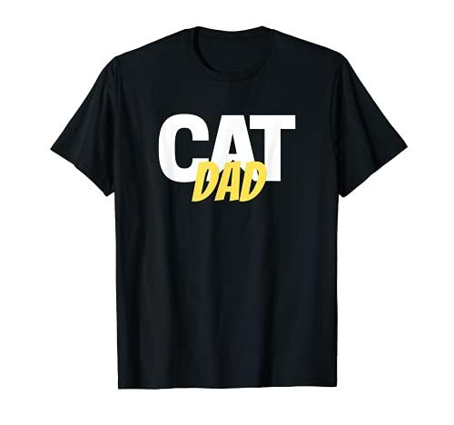 Diseño divertido con diseño de gato y papá Camiseta