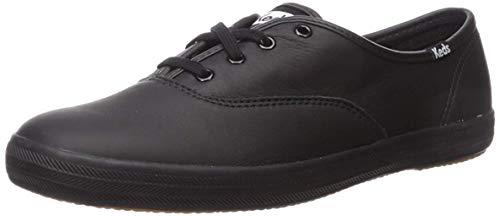 Keds Keds-Damen-Dallas-Peeptoe-Schuhe - Farbe: blasses Orange, Schwarz - schwarz / schwarz - Größe: 36 EU