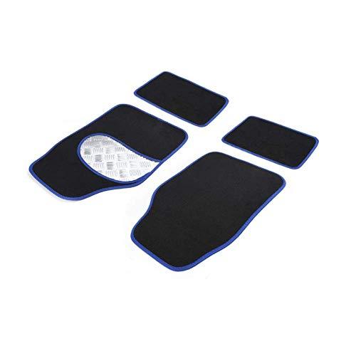 Unishop Alfombrillas Universales para Vehículos, Alfombra para Coche con Refuerzo en los Pies, Antideslizante y Anticongelante, para Vehículos con Volante a la Izquierda