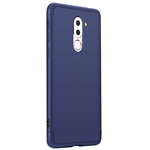Cover Huawei Honor 6X + Vetro temperato Alsoar® 360 Gradi Full Body Protezione 3 in 1 Hard PC Ultra Sottile Silm Antiurto Anti-Scratch Bumper Protettiva Cover Case per Huawei Honor 6X (Blu)