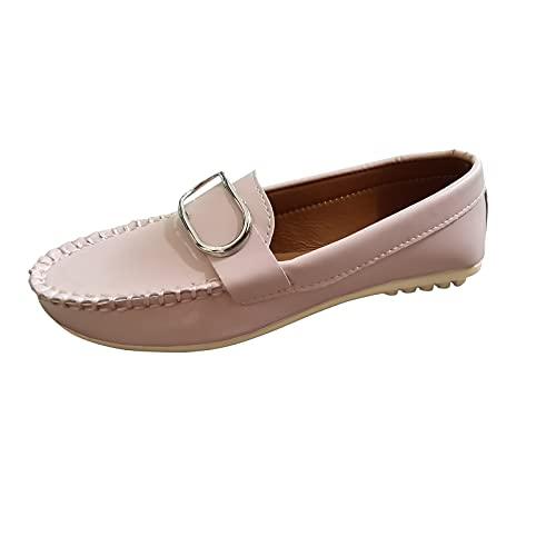 Zapatos Planos con Cordones De Punta Redonda para Mujer Mocasines Casuales Transpirables Zapatos De Zapatillas Planos Casual Zapatillas y Calzado Deportivo de Tela Transpirables para