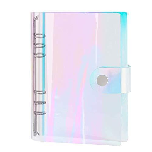 MMBox - Raccoglitore per fogli ad anelli formato standard A5, con 6anelli rotondi, in PVC trasparente, 23,5 x 18 cm A5 Trasparente