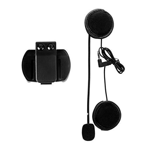 TOOGOO Accesorios V6 Micrófono Altavoz y Traje Sólo Clip para V6-1200 Casco Intercom Motorcycle Bluetooth Interphone 3.5Mm Jack Plug