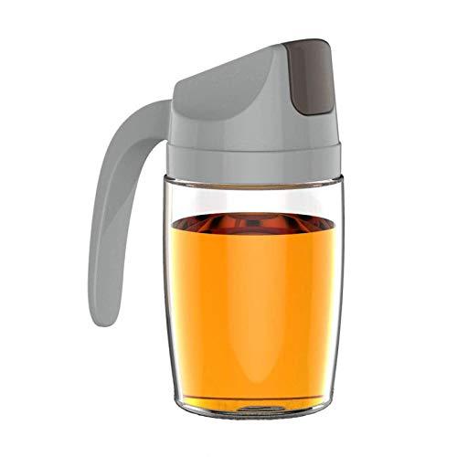 Dispensador de botella de vidrio de aceite de oliva con tirón automático 300Ml 10 condimento a prueba de fugas de 5 onzas