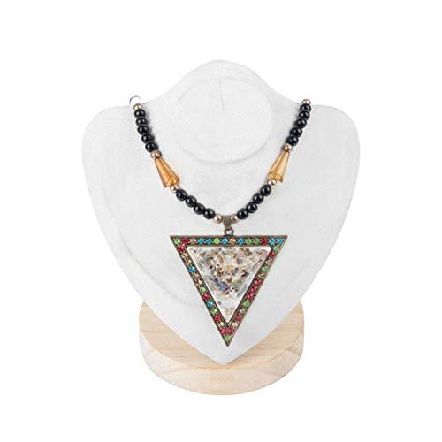 Soporte de exhibición de joyería Soporte de exhibición Creativo Collar Modelo de Marco Colgante Soporte de exhibición de Edad Cajas de joyería Organizadores (Gris, 16.5x11x21.5cm)