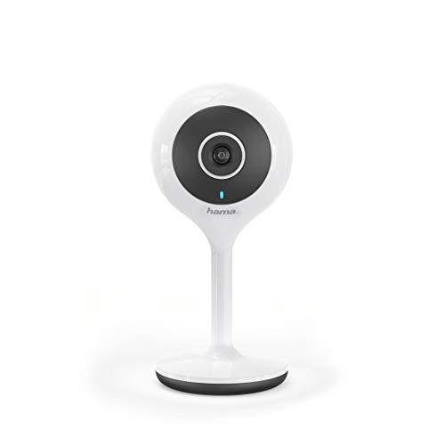 Hama Überwachungskamera innen 1080p (Full HD Wlan Kamera als Babyphone, für Haustiere oder Senioren, ohne Hub mit Bewegungsmelder, Geräuscherkennung, Nachtsicht, Gegensprechfunktion und Aufzeichnung)