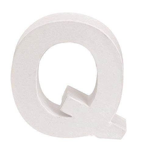 Glorex Papp della Lettera Q, FSC Mix, Bianco, 10x 10x 3,5cm