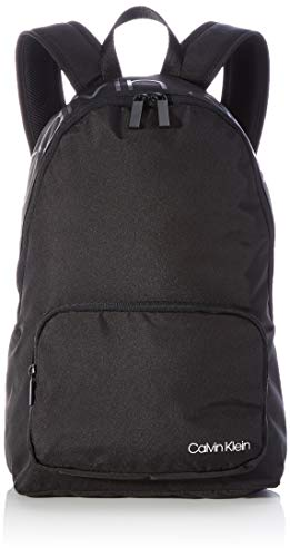 Calvin Klein Jeans Item Backpack W Pocket, Zaino Articolo con Tasca Zip Uomo, CK Nero, Large