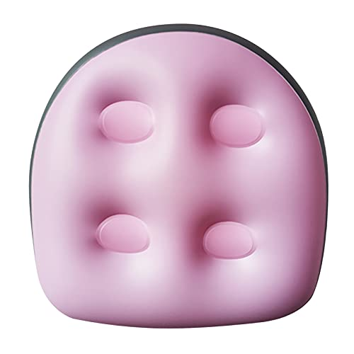 Aufblasbares Kissen, Whirlpool- und Whirlpool-Sitzkissen mit Saugnapf-Rückenlehne zur Unterstützung des Badewannen-Sitzkissens weiches aufblasbares Massagekissen (Pink)
