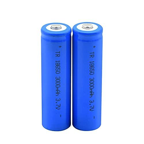 RitzyRose Pilas recargables 18650, 3,7 V, 3000 mAh, batería de iones de litio, célula específica para linterna eléctrica, 2 unidades