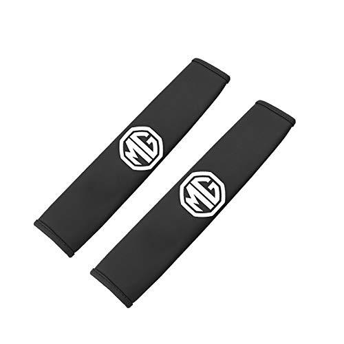 2 Uds Cubierta De Cinturón De Seguridad para Coche para MG Badge ZS HS GT 7 6 5 Salón 3SW TF3 Xross Ehs GS EZS Accesorios De Almohadilla De Hombro para Cinturón De Seguridad De Coche,Negro