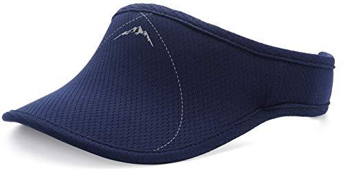 Viseras Azul para Hombre y Mujer, Banda Gruesa, Banda de Sudor Ajustable, para Golf, Ciclismo, Pesca, Tenis, Jogging y Otros Deportes