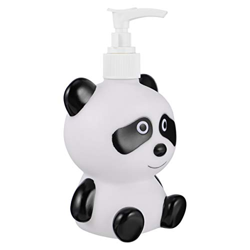 Cabilock Dispensadores de Jabón de 300 Ml Botellas Bomba de Panda Linda Botellas Vacías Recargables para Niños Lociones de Champú de Jabón Líquido Dispensadores de Manos...