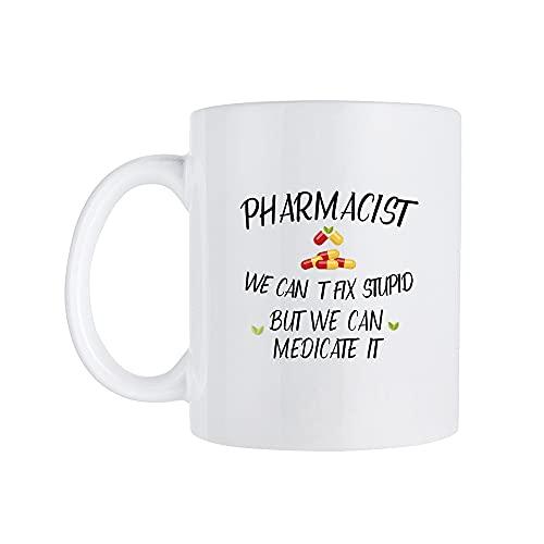 Regalo farmacéutico, taza farmacéutica, regalo de estudiante de farmacia, taza de estudiante de farmacia, regalo futuro farmacéutico, farmacéutico Can't Fix Stupid #b625