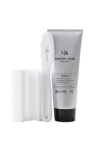 NULL ヌル 除毛クリーム メンズ 250g VIO対応 ヘラ/スポンジ付きパーフェクトセット 医薬部外品