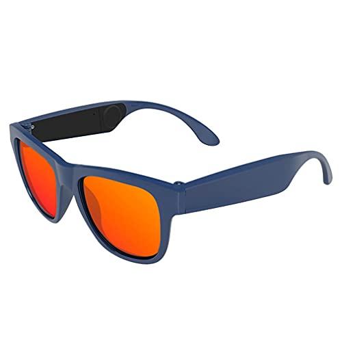 Gafas De Sol De Audio Inteligentes Bluetooth 4.0 Hueso Conducción Auriculares Vidrios Inalámbricos Abrir Oreja, Micrófono Respuesta Llamada Telefónica, para iOS Android,Blue 3