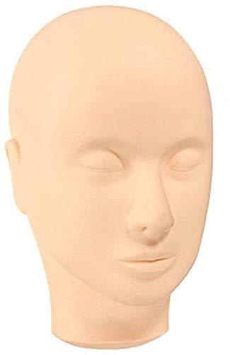 Mannequins de couture reglable Perruque, Mannequin à tête Plate avec la Pratique Faux Cils for la Formation Cils Extension Pratique de Maquillage Porte vêtement Mannequin (Color : Multicolour)