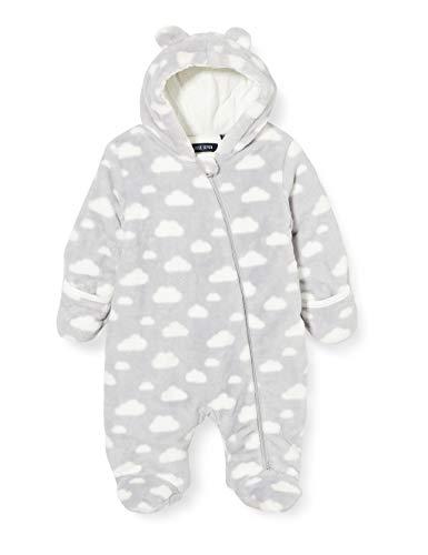 Blue Seven Unisex Baby Newborn Fleece Kapuze Overall, 936 Mittelgrau Orig, 0-3 Months