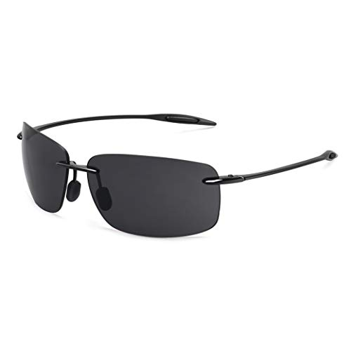 maxjuli Sport Sonnenbrille Herren Fahren Rahmenlos UV400 TR90 MJ8009