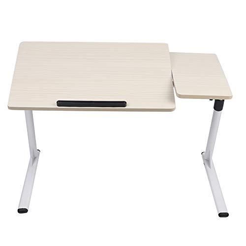 Mesa de desayuno para ordenador portátil, altura regulable, 50-76 cm, arce blanco