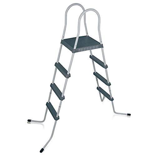 Scopri offerta per YourGEAR PL122 - Scala per piscina a 4 livelli, altezza fino a 122 cm