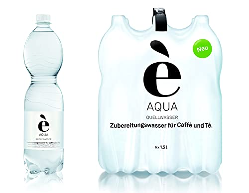 è Aqua - Kaffeewasser Teewasser natürliches Quellwasser für die Zubereitung von Kaffee und Tee: - ideal für Ihre Maschine - kein Filter oder verkalken - Doppel-SIXPACK 12x1,5l,