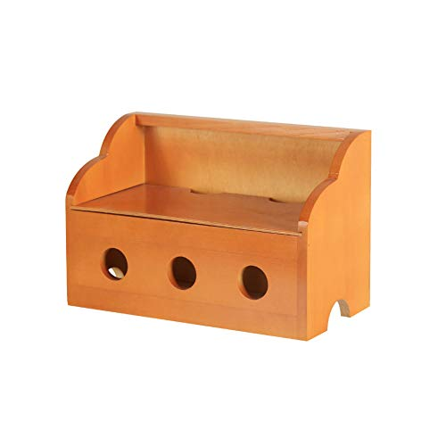 Solid Wood Desktop Large Power Cord Storage Box Power Strip Board Finishing Box Wire Socket Plug Row Data Line Set Box