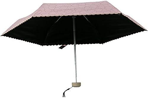 YFF@ILU Cadeau d'amoureux de cadeau d'amoureux de parapluies parapluie ensoleillé femmes et deux avec des parasols UV solaire Parapluie pliant en caoutchouc noir rose ,la fréquence voiturediaque maximum