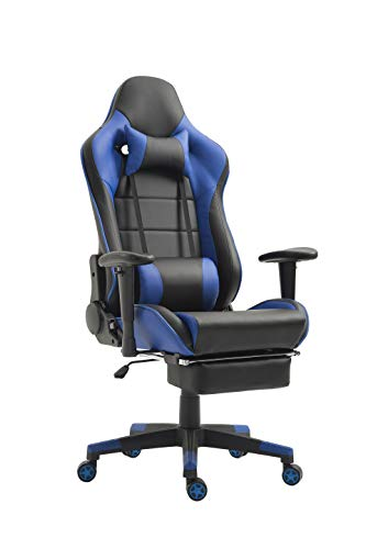 Ergonomic Gaming Chair Racing Office Chair Recliner Computer Chair Leather High-Back E-Sports Chair...