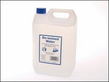 Price comparison product image Value Pack of 3 - De-ionised Water 5 Litres - Suitable for battery maintenance,  irons,  fountains etc
