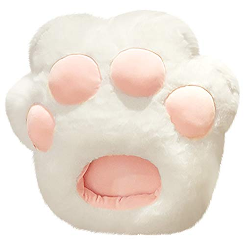 ClodeEU Cartoon Plush Cat Paw Warm Foot Slippers Home Indoor Warm Slippers Home Decor for Easter White