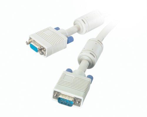 Vivanco CK 175/2 VGA analoge monitor verlengkabel 15 pol. HD-stekker naar 15-polig. HD-stekker, ferrietkern, 1,8 m