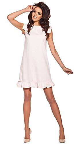 Lemoniade Damen Sommerkleid mit ausgefallenem Schnitt Made in EU, Modell 2 Rosa, Gr. S (36)