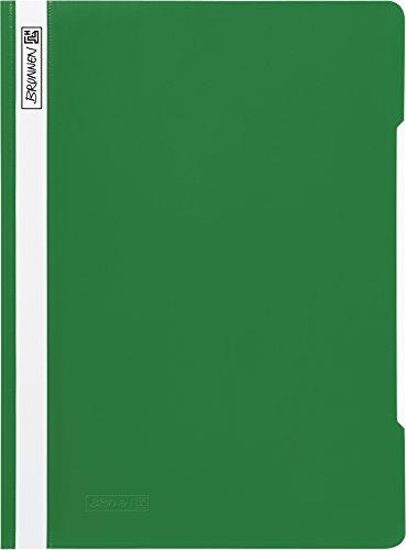 Brunnen 102011050 Schnellhefter (A4, aus PVC, glasklares Deckblatt) grün