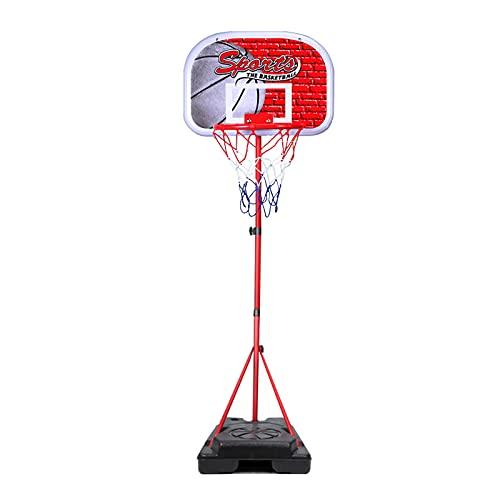 Canasta Baloncesto Aro De Baloncesto Portátil para El Hogar, Soporte De Baloncesto para Niños Ajustable En Altura, con Tablero Y Borde De ABS, para Jardines Interiores Y Exteriores