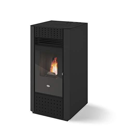 Eva Calor Irma 901690000 - Estufa de pellets, 9 kW, color negro