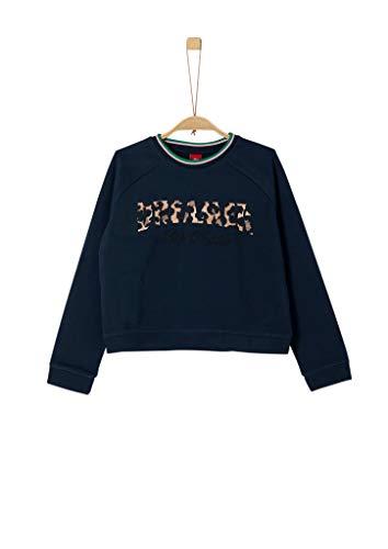 s.Oliver RED LABEL Mädchen Sweatshirt mit Schriftzug navy S.REG