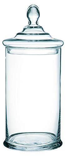 INNA-Glas Aufbewahrungsglas DANI, klar, 35cm, Ø 15cm - Pflanzschale - Deko Schale