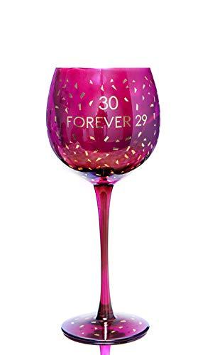 Boxer Gifts GWO730 Verre à vin pour 30e anniversaire   Belle verrerie de fête   Cadeau