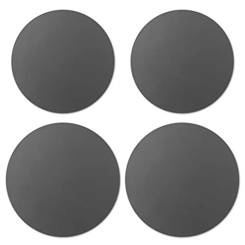 Silicone Pot Holder Table Mats Microwave Mats Round Grey Hot Pot Pans Pads Holders Heat Resistance Nonstick Safe Splatter Guard Oven Baking Turntable Mat for Kitchen Countertop, 2 Sizes, Pack of 5