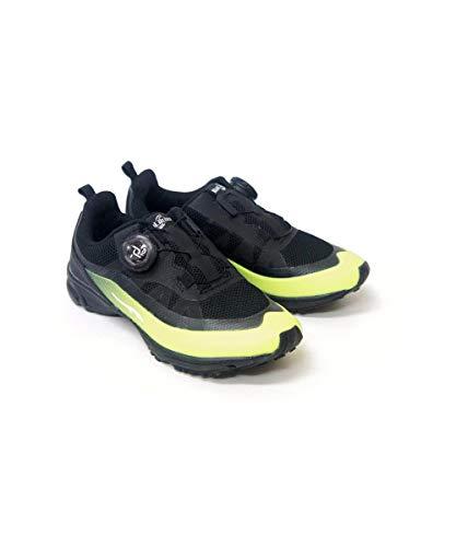 スニーカー 子供靴 運動会 ダイヤルドライブ 防水 レイン 男の子 女の子 ボーイ ガール ジュニア スニーカー 運動靴 プロテクト rio47128-09(イエロー(60) 21.5cm)