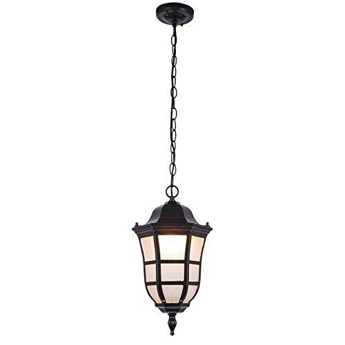 WEILAI Al aire libre de la vendimia del impermeable Linterna colgante retro luces pendientes industrial de montaje empotrado de techo Lámparas Gazebo Balcón Araña para uso en interiores o exteriores