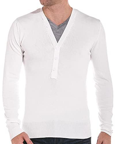Pull Blanc Double col - XL - Blanc