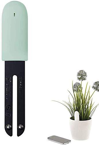 WANFEI Flower Care Soil Tester, Intelligent Plant Monitor Bluetooth 4 in 1 Flower Tester Monitora automaticamente i Livelli di umidità/Luce/fertilità/Temperatura - per iOS e Android