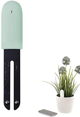 WANFEI Flower Care Soil Tester, Intelligent Plant Monitor Bluetooth 4 in 1 Flower Tester Monitora automaticamente i Livelli di umidità/Luce/fertilità/Temperatura - per iOS e Android