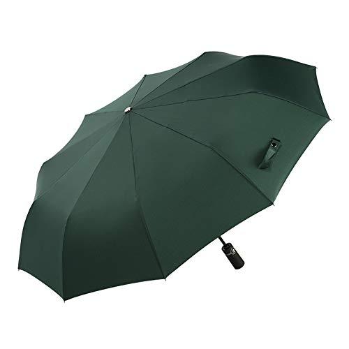 GQDP Paraguas automático diseño de Diez Huesos, para Tiendas, antisalpicaduras, para la Lluvia, Verde, 23in