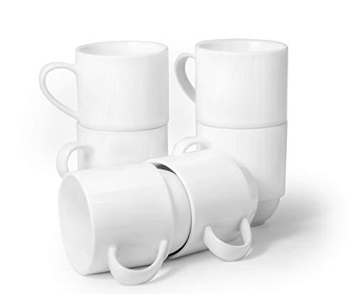Amuse- Professional Barista Classic Stackable Mug- Set of 6 (11 oz)