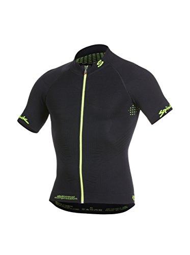 Spiuk Maillot Ciclismo Team Negro/Amarillo L